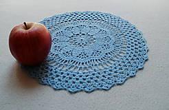 Úžitkový textil - Modrá háčkovaná dečka - 8183791_