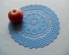 Úžitkový textil - Modrá háčkovaná dečka - 8183787_