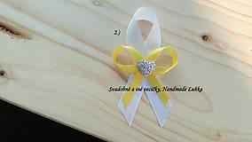 Svadobné pierka - biela a žltá