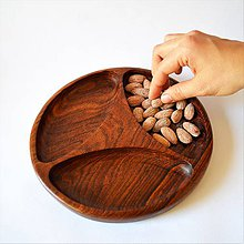 Nádoby - Drevená tácka Triple | Elite Wooden valet tray - 8185194_