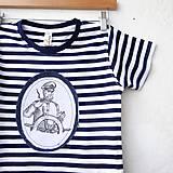 Detské oblečenie - NÁMOŘNICKÉ TRIČKO, všechny velikosti, malované aplikace - 8184949_