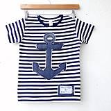 Detské oblečenie - NÁMOŘNICKÉ TRIČKO, všechny velikosti - 8185074_