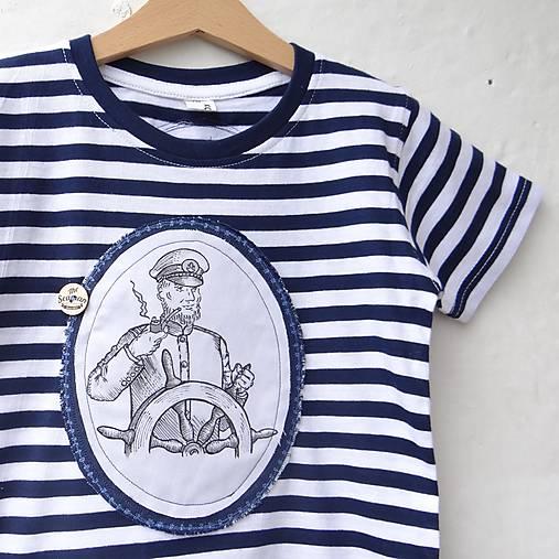 Detské oblečenie - KAPITÁNEM PRÁZDNINOVÉ LODI - vel. 122 - 8185095_