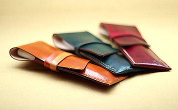 Papiernictvo - Kožené puzdro na perá  (Ružová) - 8185511_