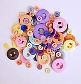Galantéria - mix gombíkov pastel - 8185363_