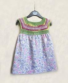 Detské oblečenie - Šaty háčkované detské - 8183691_