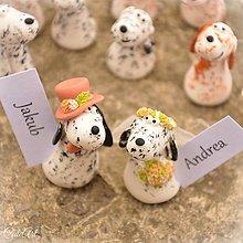 Darčeky pre svadobčanov - Anglický seter II. - menovky, darčeky pre svadobčanov - 8184381_