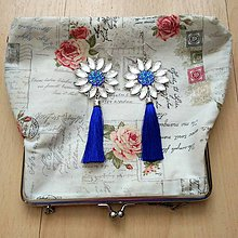 Náušnice - Modré náušničky s dlhým strapčekom ;) - 8186063_