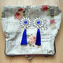 Náušnice - Modré náušničky s dlhým strapčekom ;) - 8186075_