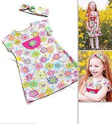 Detské oblečenie - Letné šaty Na farebnej lúke - 8183846_