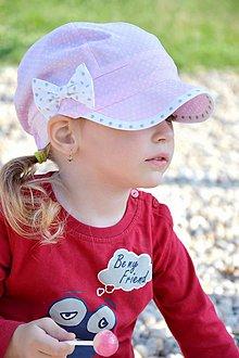 Detské čiapky - Letná šiltovka Sweet pink & dots - 8186711_