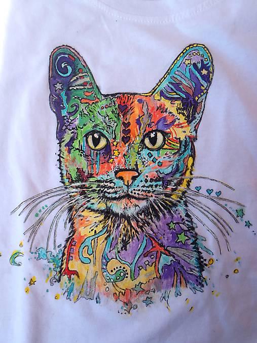 Tričká - cica na tričku :-) - 8184225_