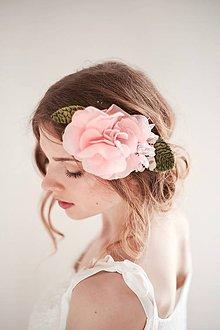 Ozdoby do vlasov - Ružový kvet do vlasov - pivonka #264 - 8184699_