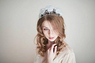 Ozdoby do vlasov - Strieborná čelenka - Fascinátor hviezdy #266 - 8184743_