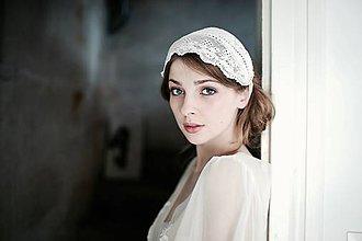 Ozdoby do vlasov - Svadobný čepiec - čelenka so štrasom #262 - 8185022_