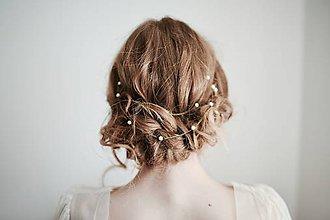 Ozdoby do vlasov - Perlová retiazka do vlasov #259 - 8185112_