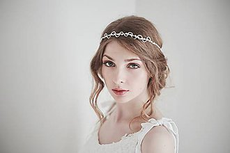 Ozdoby do vlasov - Perlová čelenka - svadobná ozdoba #250 - 8185423_