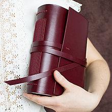 Papiernictvo - Kožený zápisník Renáta - 8183886_