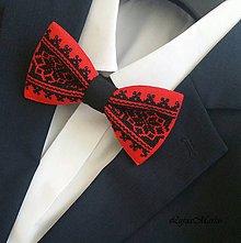Doplnky - Červený motýlik - 8185612_