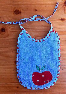 Detské doplnky - podbradník jablko - 8186449_