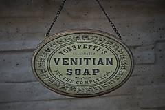 Tabuľky - Zelená ceduľka Venitian Soap - 8186251_