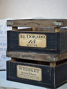 Nábytok - Whiskey alebo Rum debnička  - 8182816_