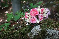 Romantický kvetinový štvrťvenček