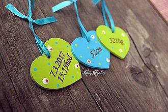 Detské doplnky - menovka s udajmi o narodení - 8189649_