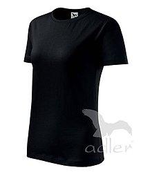 Nezaradené - Dámske tričko ADLER Classic new (133), veľkosť M, čierna - 8188053_