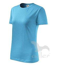Nezaradené - Dámske tričko ADLER Classic new (133), veľkosť M, tyrkysová - 8188189_