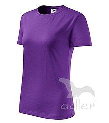 Iný materiál - Dámske tričko ADLER Classic new (133), veľkosť M, fialová - 8188333_