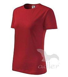 Nezaradené - Dámske tričko ADLER Classic new (133), veľkosť M, červená - 8188455_