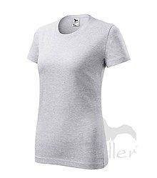 Nezaradené - Dámske tričko ADLER Classic new (133), veľkosť M, svetlosivý melír - 8188512_