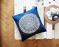 Úžitkový textil - Povlak z mandalovej série-tyrkysovo-biely 40x40 cm - 8188273_