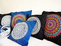 Úžitkový textil - Povlak z mandalovej série-tyrkysovo-biely 40x40 cm - 8188278_