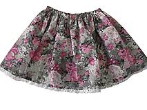 Sukne - detská suknička - 8188208_