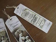Papiernictvo - Záložka do knihy Vintage - 8187383_