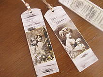 Papiernictvo - Záložka do knihy Vintage - 8187386_