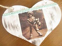 Dekorácie - Srdiečko Vintage - 8187426_