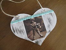 Dekorácie - Srdiečko Vintage - 8187427_