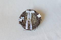 Prstene - Vintage hniezdo na svadobné obrúčky - 8187680_