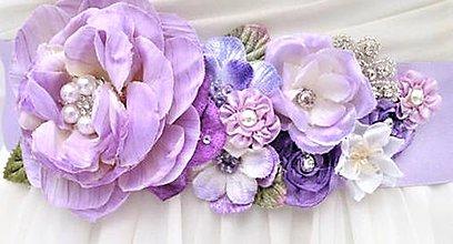 Opasky - Kvetinový opasok pre nevestu - 8188216_