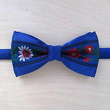 Doplnky - motýlik pánsky FOLK kráľovská modrá - 8189118_
