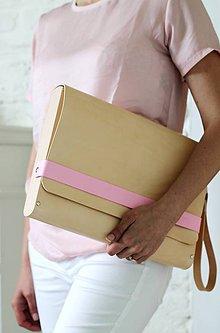 Veľké tašky - Kabelka PORTFOLIO / NOTEBOOK CASE PINK STRIPE - 8188137_
