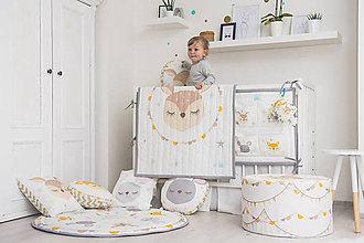 Textil - Prešívaná prikrývka Sleeping friends Srnka - 8189318_