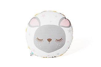Textil - Kruhový vankúšik Sleeping Friends s myškou - 8189715_