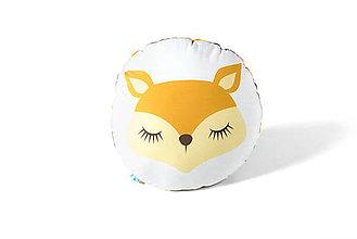 Textil - Kruhový vankúšik Sleeping Friends s líškou - 8189765_