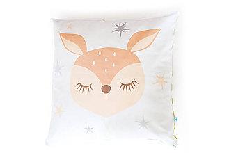 Textil - Poťah na vankúš Sleeping Friends so srnkou - 8189868_