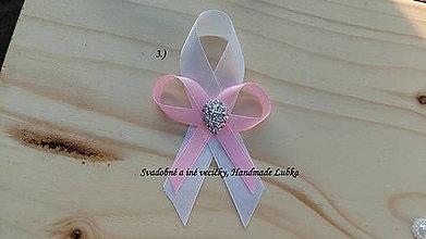 Pierka - Svadobné pierka - biela a ružová - 8187764_
