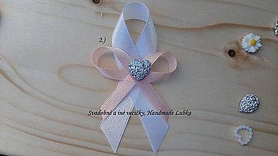 Pierka - Svadobné pierka - biela a marhuľová - 8187827_